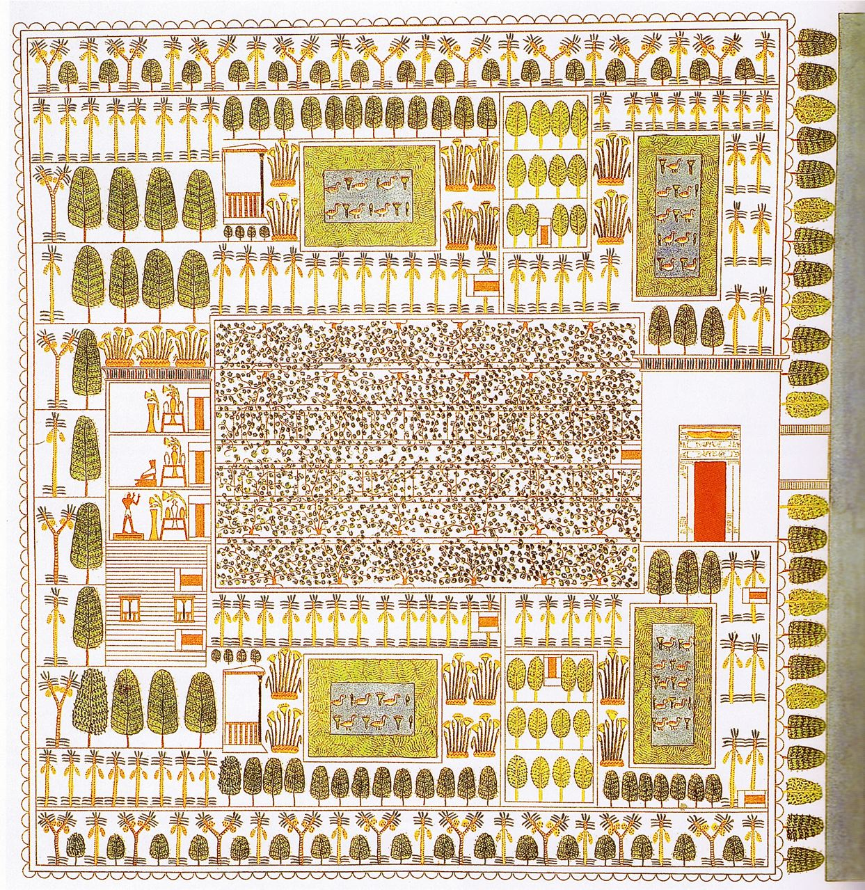 Historia del jard n en la antig edad egipto paisajistas for Planos de jardines pequenos