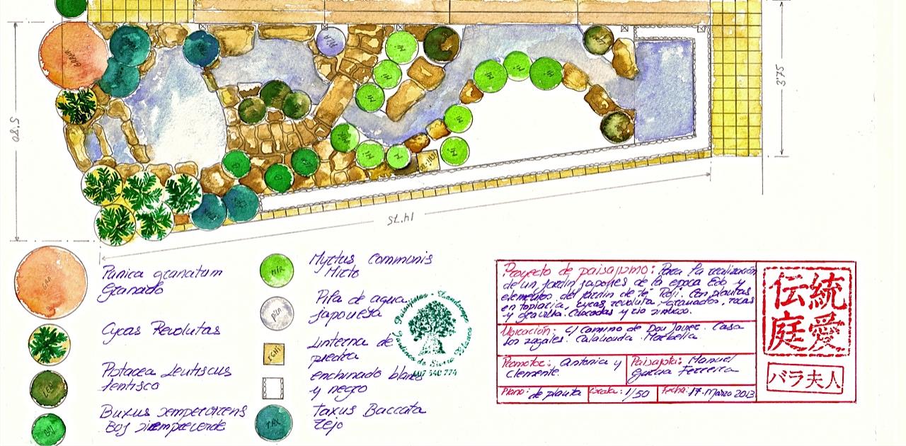 Jard n japon s roji paisajistas marbella for Proyecto jardineria