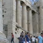 10- el Partenon plagado de turistas