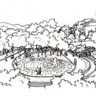 12-Perspectiva isla de los bienaventurados blanco y negro
