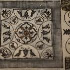 14- detalle de mosaico villa romana de rio verde de Marbella