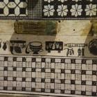 16- mosaicos con temas culinarios en la villa ronana de rio verde de Marbella