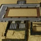 2- se puede observar el peristilo que formaba el centro de la villa