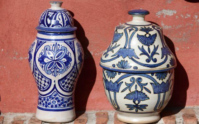 22 jarrones con la decoraci n t pica de fez paisajistas for Jarrones persas