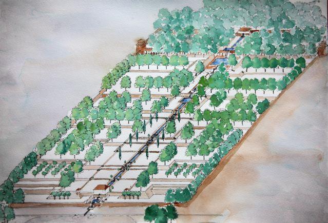 Historia del jardin en la antig edad jardines persas for Jarrones persas