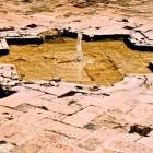 4-fuente realizada sobre el pavimento
