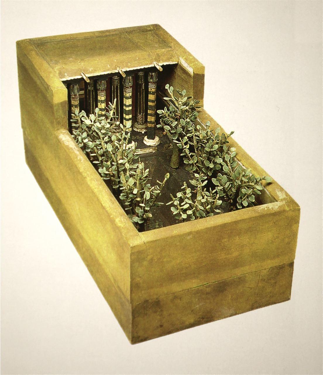 Historia del jard n en la antig edad egipto paisajistas for Maquetas de jardines