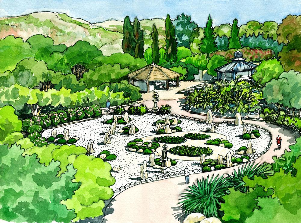 Jardines bot nicos hist ricos de la concepci n de m laga for Jardin dibujo